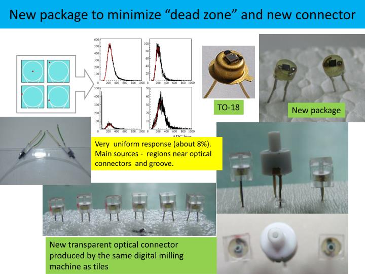 "New package to minimize ""dead zone"" and new connector"