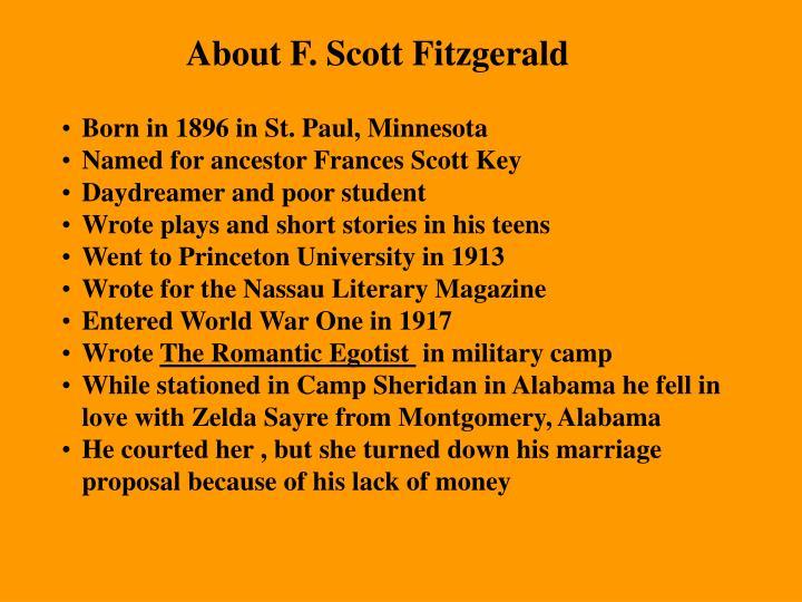 About F. Scott Fitzgerald