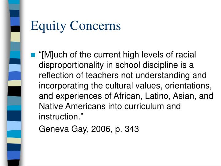 Equity Concerns