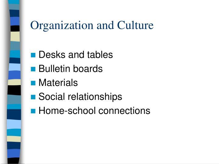 Organization and Culture