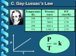 c gay lussac s law