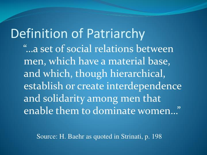 Definition of Patriarchy