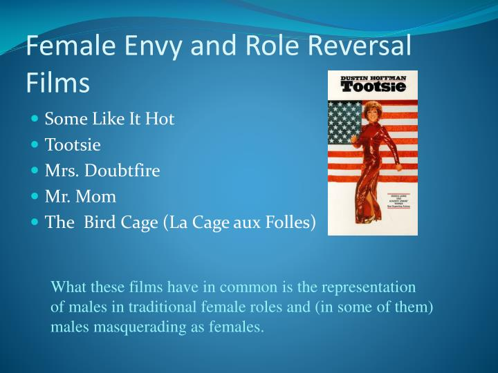 Female Envy and Role Reversal Films