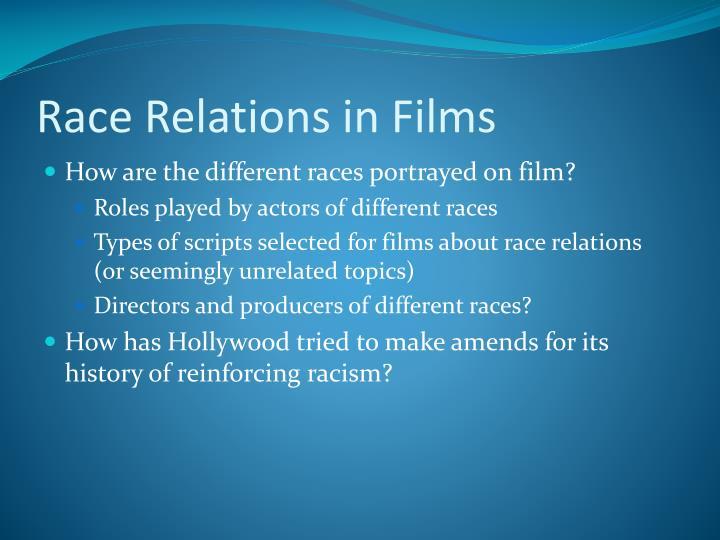 Race relations in films