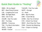 quick start guide to texting