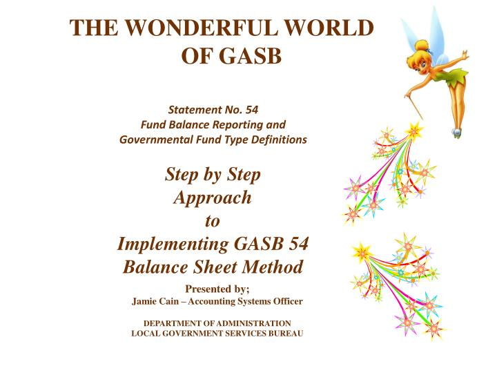 the wonderful world of gasb n.