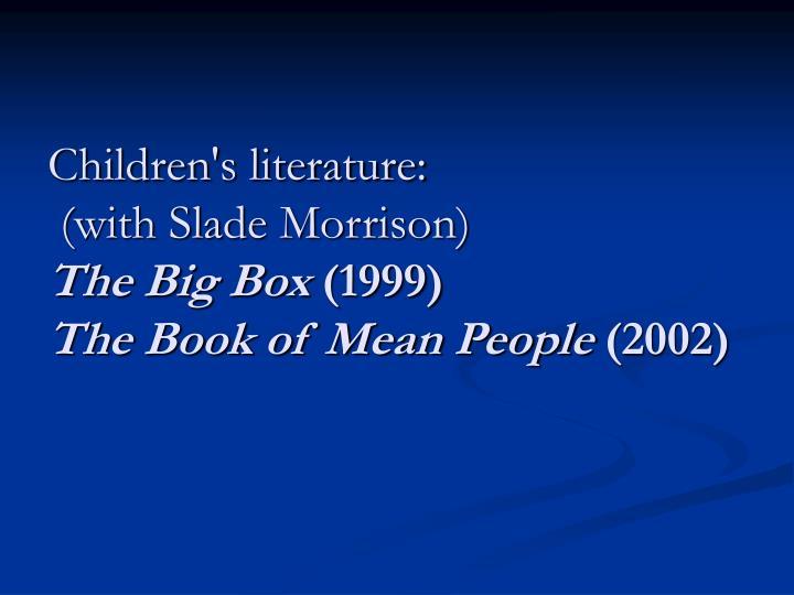 Children's literature: