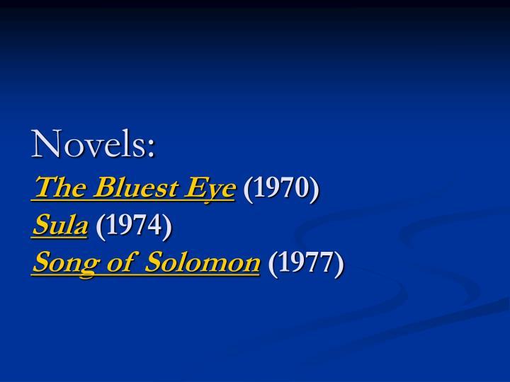 Novels: