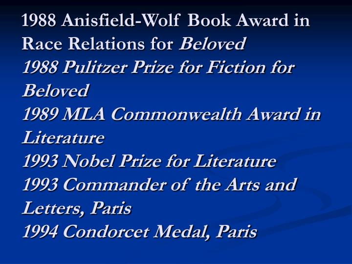 1988 Anisfield-Wolf Book Award in Race Relations for