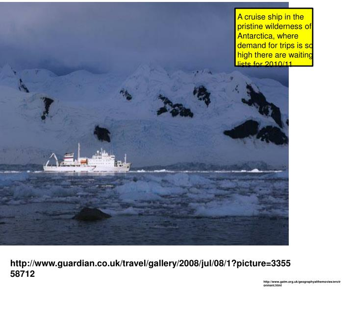 a discussion of the environmental impact of tourism on antartica