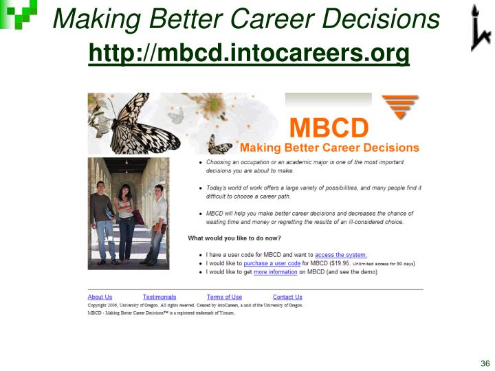 Making Better Career Decisions