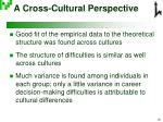 a cross cultural perspective