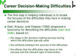 career decision making difficulties