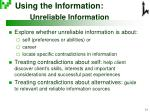 using the information unreliable information
