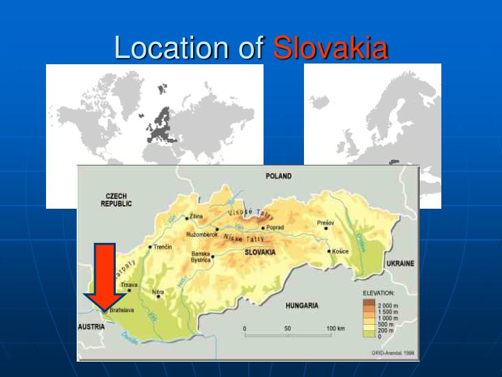 Location of slovakia