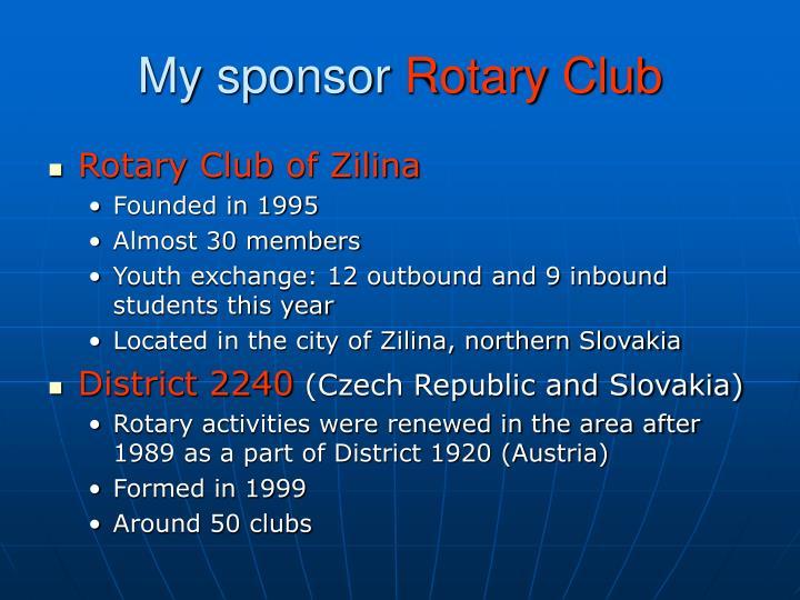 My sponsor