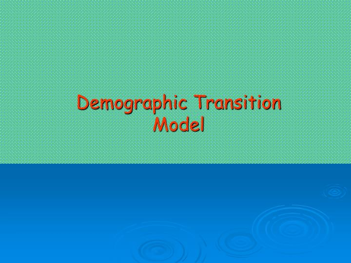 demographic transition model n.