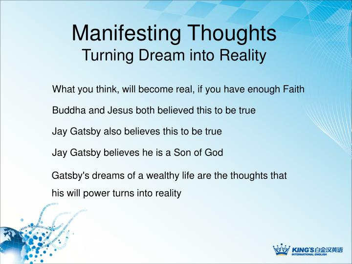 Manifesting Thoughts