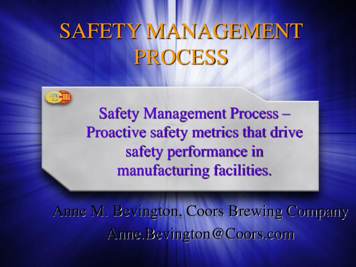 safety management process n.