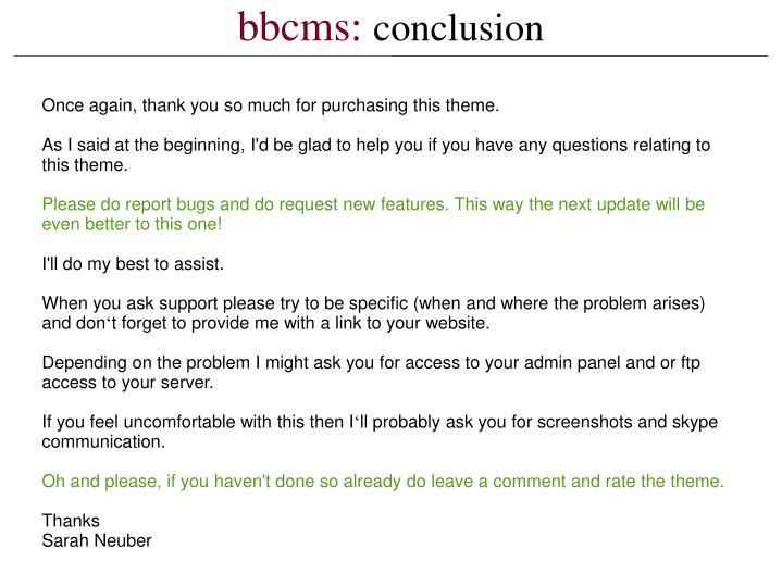 bbcms:
