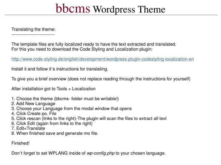 Bbcms wordpress theme1