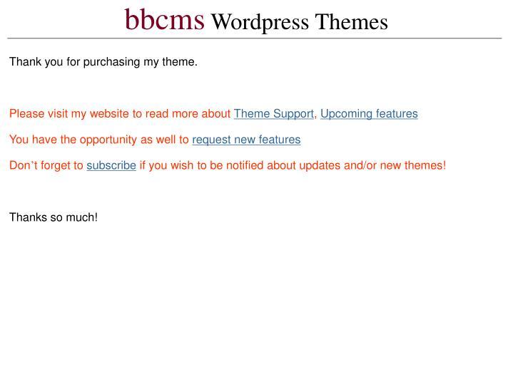 Bbcms wordpress themes