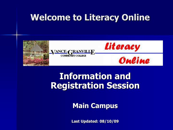 Welcome to literacy online