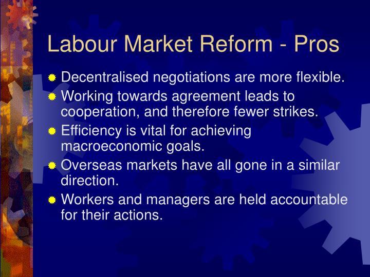 Labour Market Reform - Pros