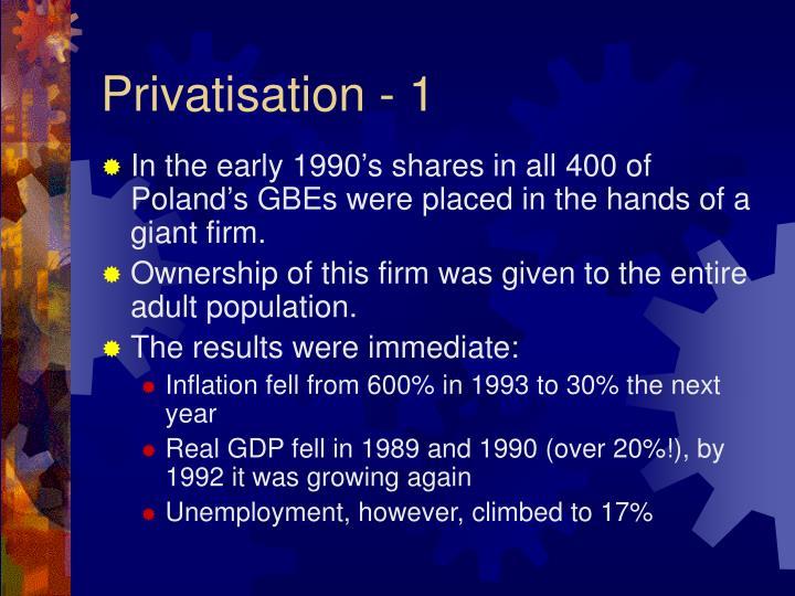 Privatisation - 1