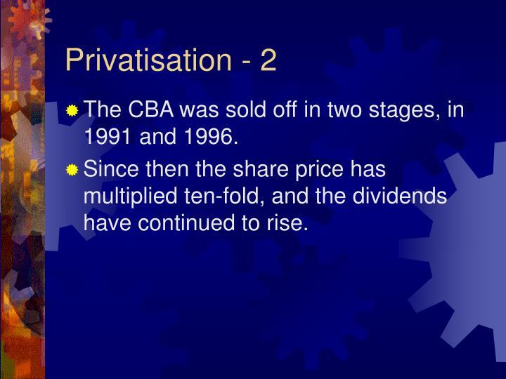 Privatisation - 2