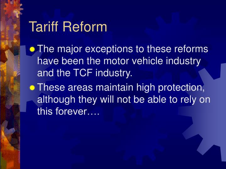Tariff Reform