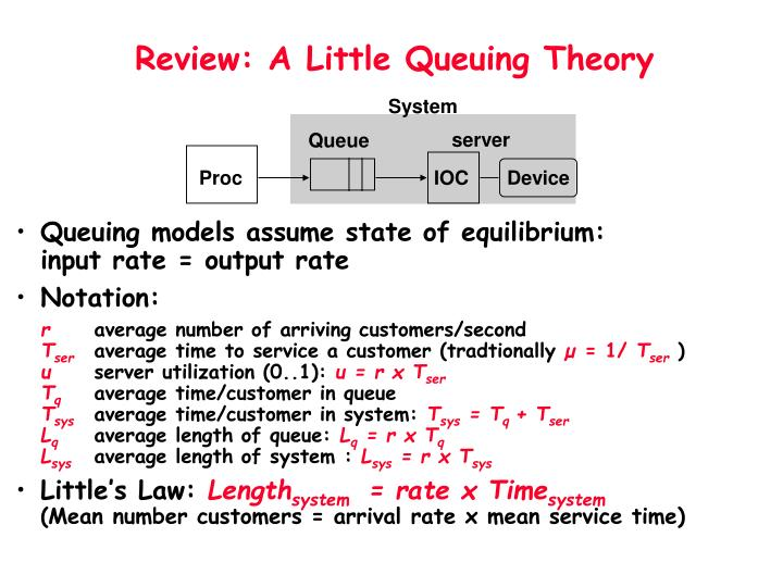Review a little queuing theory