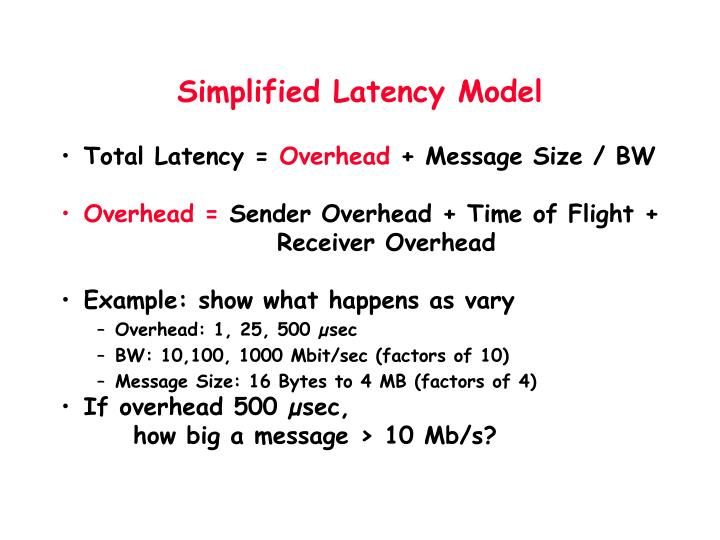 Simplified Latency Model