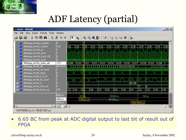 ADF Latency (partial)