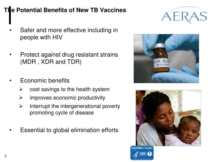 The Potential Benefits of New TB Vaccines