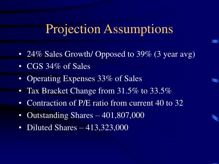 Projection Assumptions