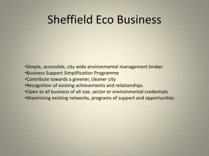 Sheffield Eco Business