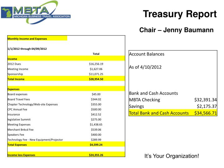 Treasury Report