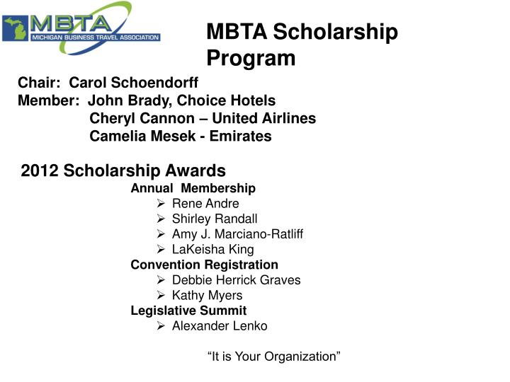 MBTA Scholarship Program
