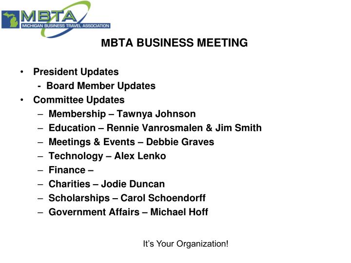MBTA BUSINESS MEETING