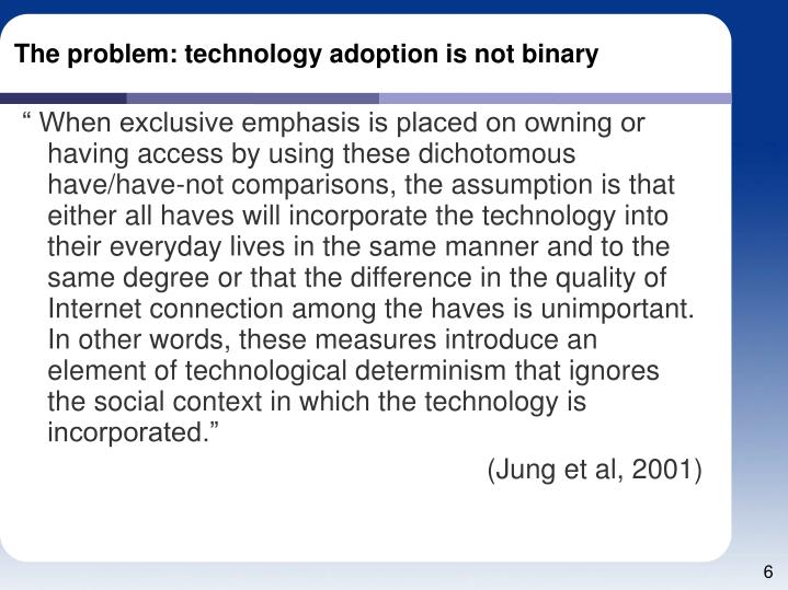 The problem: technology adoption is not binary