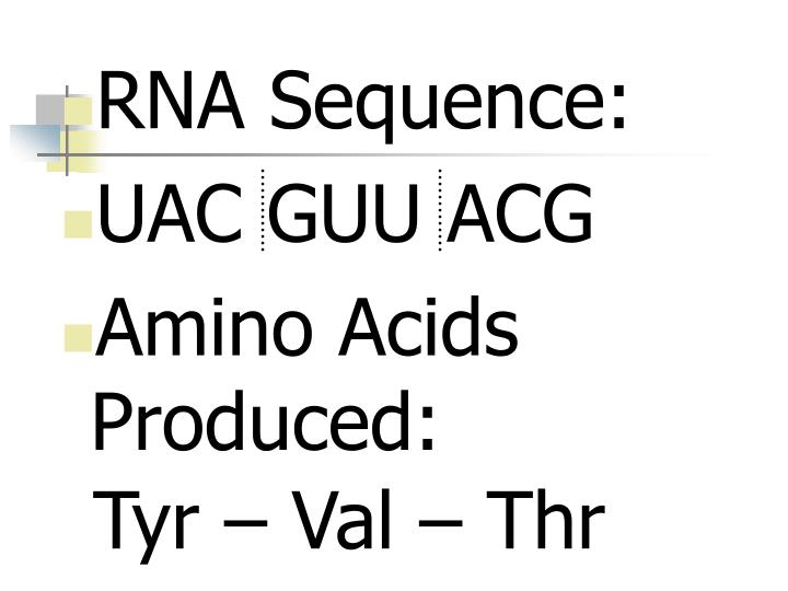 RNA Sequence: