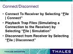 connect disconnect
