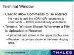 terminal window