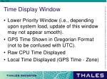 time display window