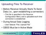 uploading files to receiver