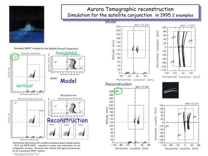 Aurora Tomographic reconstruction