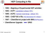 hep computing in rio