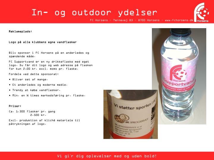 In- og outdoor ydelser