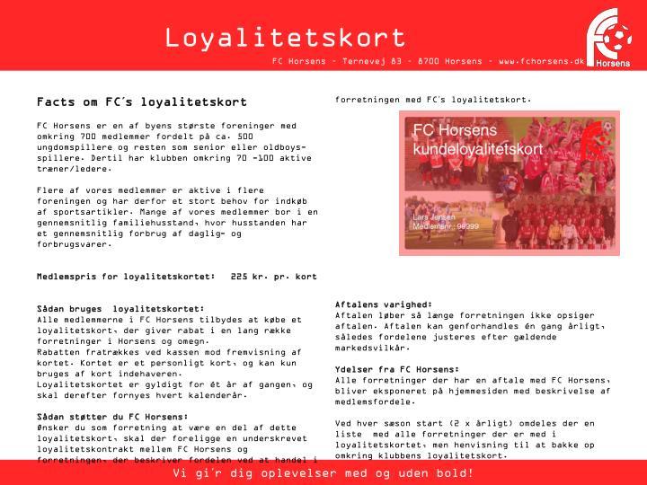 Loyalitetskort